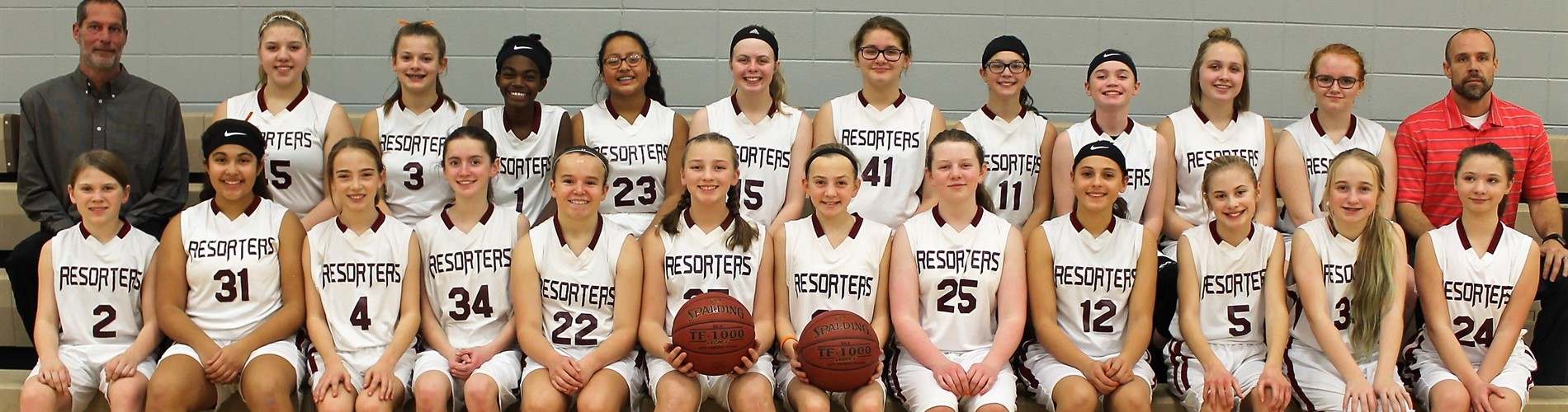 2018 MS Girls Basketball Team