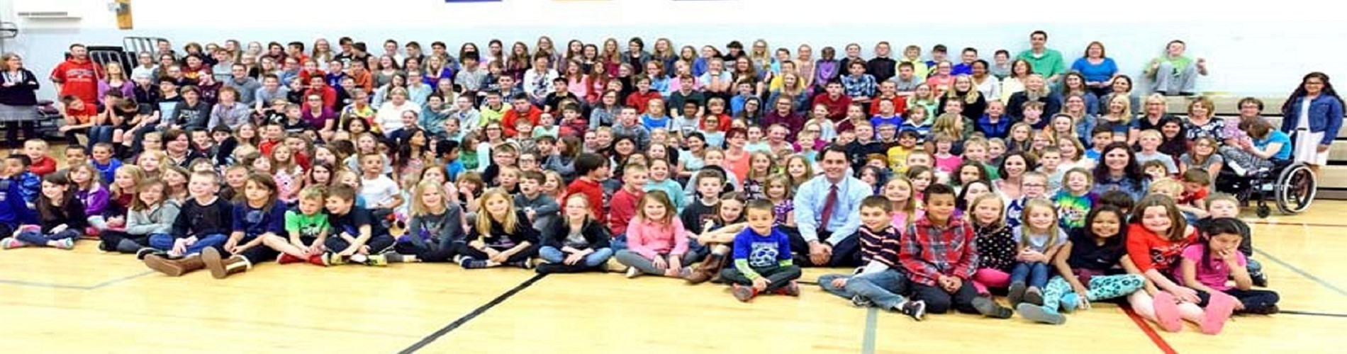 Governor Visit All Students Gym