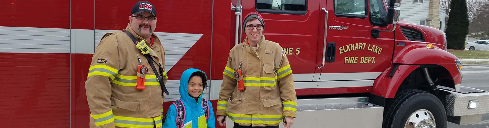 Ride to School on a Firetruck